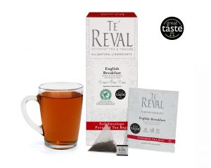 Te' Reval award winning English Breakfast pyramid tea bags