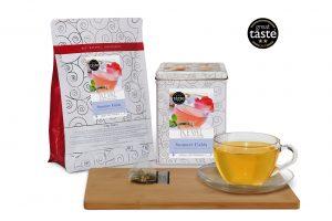 Te Reval ward winning Summer Fields tea